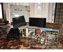 playstation 3 ps3 slim + 6 giochi + 4 controller come nuova
