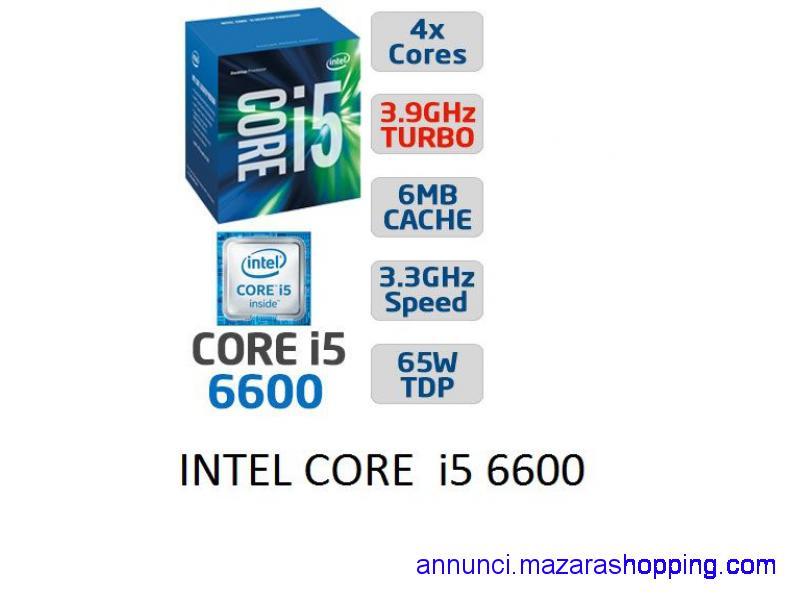 CPU INTEL CORE i5 6600 + DISSIPATORE