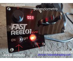 Mulinello elettrico fast reel versione evo aggiornata