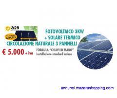 FORMULA ESCO IMPIANTO FOTOVOLTAICO DA 3KW  + SOLARETERMICO 320lt/3 PANNELLI NATURALE